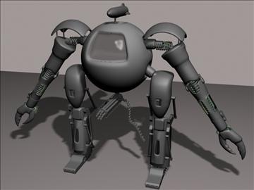apaļš robots 3d modelis 3ds 94106