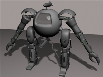 round robot 3d model 3ds 94106