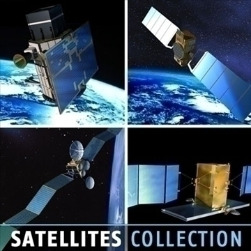 4 satellites collection 3d model 3ds dxf c4d obj 82131