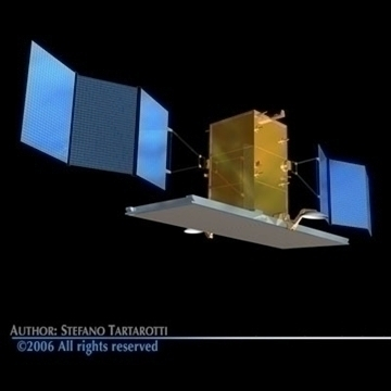 4 satellites collection 3d model 3ds dxf c4d obj 82134