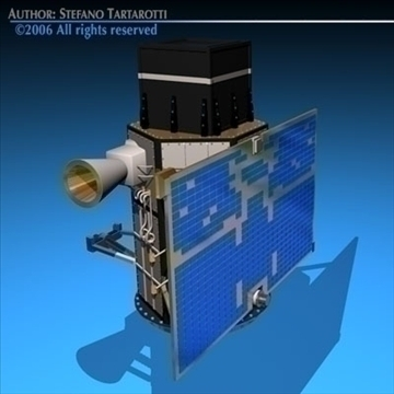 4 satellites collection 3d model 3ds dxf c4d obj 82137