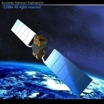 4 satellites collection 3d model 3ds dxf c4d obj 82139