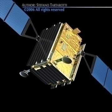 cosmo-skymed satellite 3d model 3ds dxf c4d obj 82440
