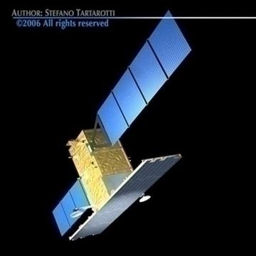 cosmo-skymed satellite 3d model 3ds dxf c4d obj 82443