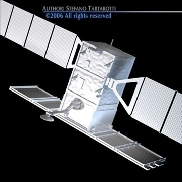 cosmo-skymed satellite 3d model 3ds dxf c4d obj 82447