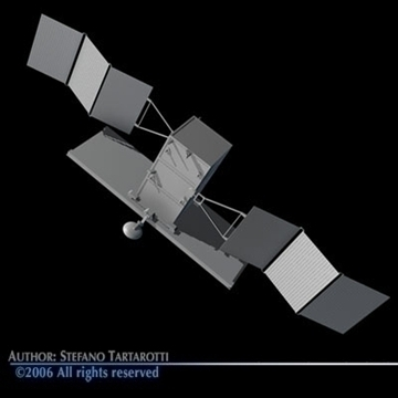 radar satellite 3d model 3ds dxf c4d obj 81999