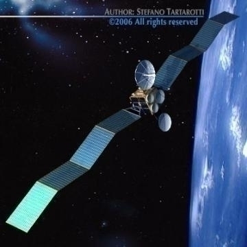 satellite 3d model 3ds c4d obj 77470