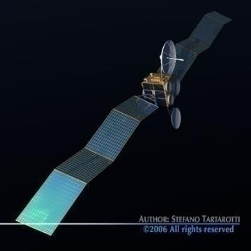 satellite 3d model 3ds c4d obj 77471
