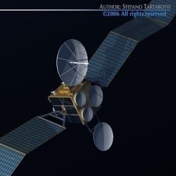 satellite 3d model 3ds c4d obj 77474