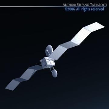 satellite 3d model 3ds c4d obj 77475