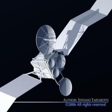 satellite 3d model 3ds c4d obj 77476