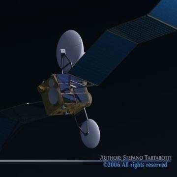 satellite 3d model 3ds c4d obj 77477