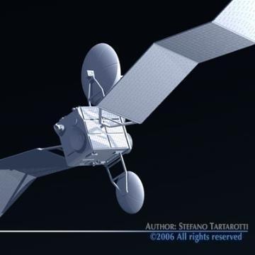 satellite 3d model 3ds c4d obj 77478