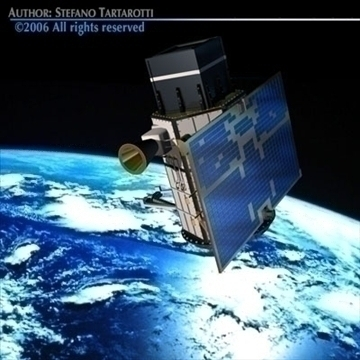 scientific research satellite 3d model 3ds dxf c4d obj 82005