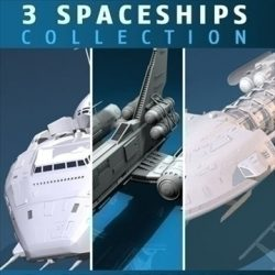 three spaceship and space fighter collection ( 89.79KB jpg by tartino )