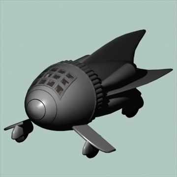 flash gordon space ship 3d model 3ds 96119