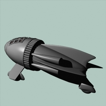 flash gordon space ship 3d model 3ds 96120