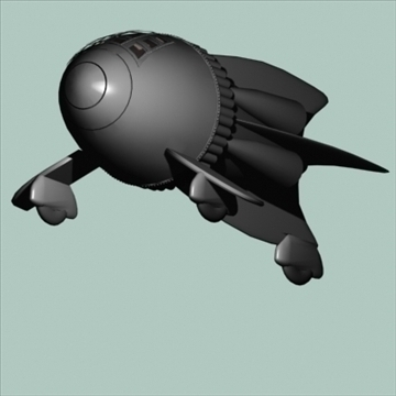 flash gordon space ship 3d model 3ds 96122