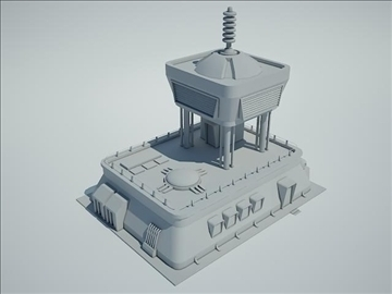 futuristic sci fi building 3d model 3ds max fbx obj 107843