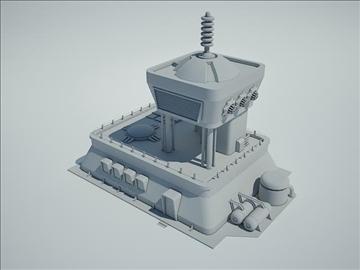 futūristiska sci fi ēka 3d modelis 3ds max fbx obj 107844
