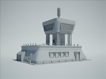 futuristic sci fi building 3d model 3ds max fbx obj 107845