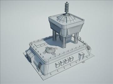 futuristic sci fi building 3d model 3ds max fbx obj 107846