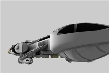 mk9 hawk cīnītājs kosmosa kuģis 3d modelis 3ds c4d 86877