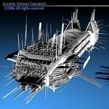 porcupine spaceship 3d model 3ds c4d obj 80251