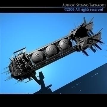 porcupine spaceship 3d model 3ds c4d obj 80252