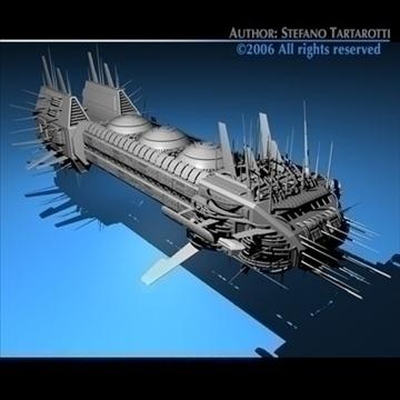 porcupine spaceship 3d model 3ds c4d obj 80253