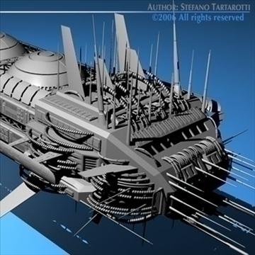 porcupine spaceship 3d model 3ds c4d obj 80254