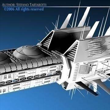 porcupine spaceship 3d model 3ds c4d obj 80255