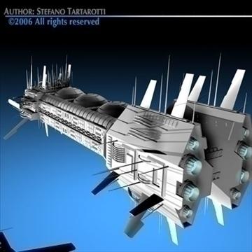 porcupine spaceship 3d model 3ds c4d obj 80256