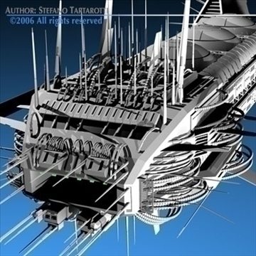 Porcupine spaceship ( 117.42KB jpg by tartino )