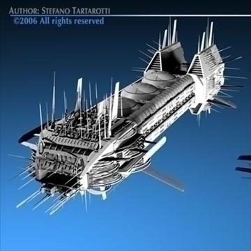 Porcupine spaceship ( 81.75KB jpg by tartino )