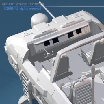 ayaqları ilə sc-fi çöl rover 3d model 3ds c4d obj 77690