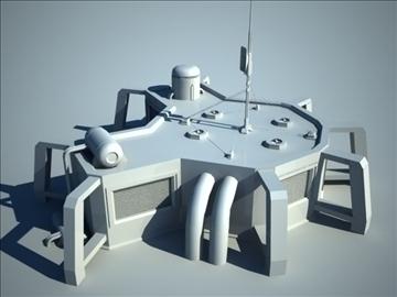 sci fi house 3d model 3ds max fbx c4d obj 106195