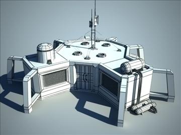 sci fi house 3d model 3ds max fbx c4d obj 106197