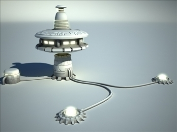 sci fi station 3d model 3ds max fbx obj 106654