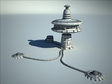 sci fi station 3d model 3ds max fbx obj 106657