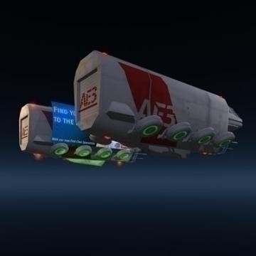 sci-fi truck 3d model 3ds other obj 77753