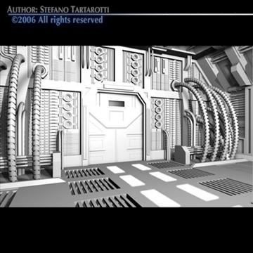 science-fiction door 3d model 3ds c4d obj 81750