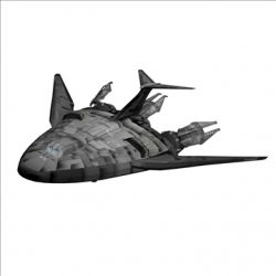Shuttle from Babylon 5 ( 27.67KB jpg by KBSH )