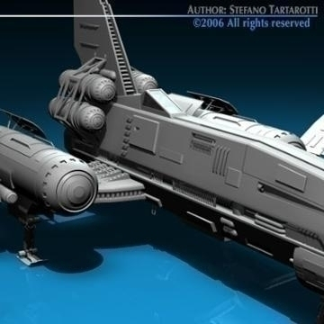 space fighter 3d model 3ds dxf c4d obj 77432