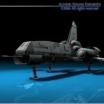 space fighter 3d model 3ds dxf c4d obj 77433