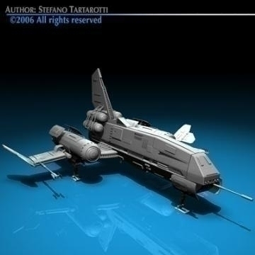 space fighter 3d model 3ds dxf c4d obj 77438