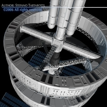 space station v2 3d model 3ds dxf c4d obj 84345