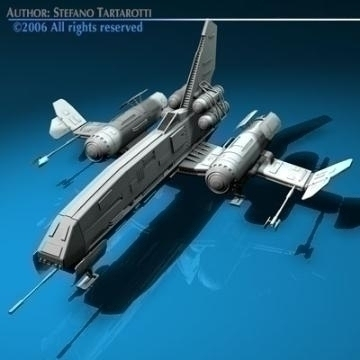 Space fighter ( 56.3KB jpg by tartino )