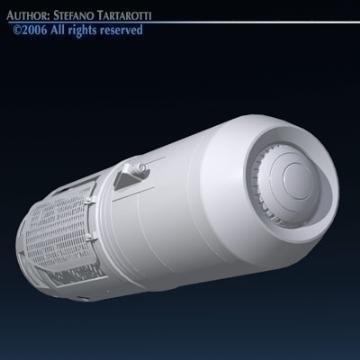 spaceship engine 3d model 3ds dxf obj 78870