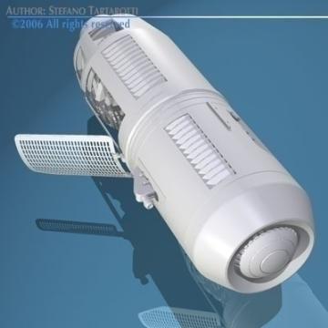 spaceship engine 3d model 3ds dxf obj 78872